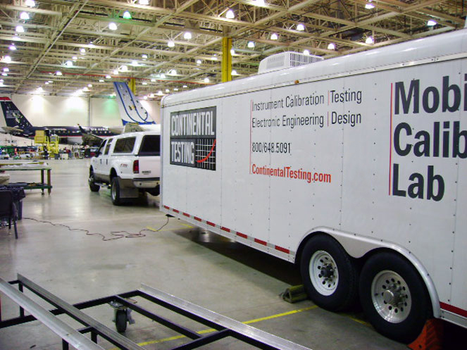 continental testing truck with trailer lab